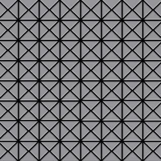 Mosaik Fliese massiv Metall Edelstahl matt in grau 1, 6mm stark ALLOY Deco-S-S-MA 1 m2 - Vorschau 1