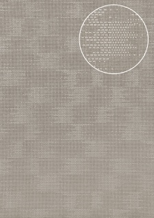 Uni Tapete Atlas COL-499-0 Vliestapete strukturiert mit Struktur schimmernd silber grau 5, 33 m2