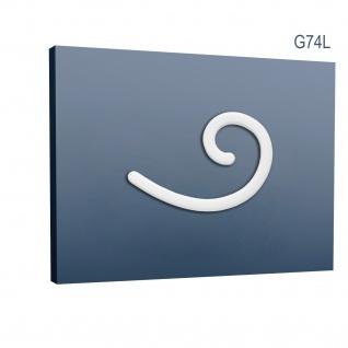 Stuckgesims von Orac Decor G74L Curl Maxi Ulf Moritz LUXXUS Zierelement Stuckprofil klassisches Wand Dekor Element weiß