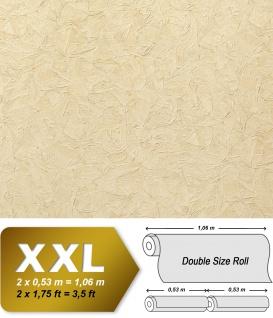 Struktur Tapete EDEM 9086-23 heißgeprägte Vliestapete geprägt unifarben schimmernd elfenbein hell-elfenbein 10, 65 m2