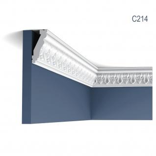 Zierleiste Orac Decor C214 LUXXUS Eckleiste Stuckleiste Stuckprofil Dekorprofil Decken Wand Leiste 2 Meter
