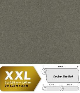 Textiloptik Tapete EDEM 9163-09 heißgeprägte Vliestapete geprägt mit Struktur schimmernd grau 10, 65 m2