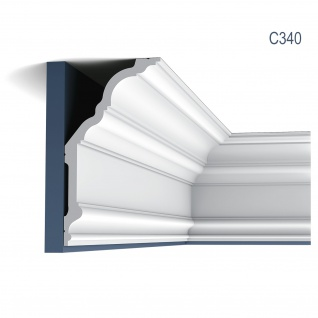 Stuck Wandleiste Orac Decor C340 LUXXUS Eckleiste Zierleiste Profilleiste Stuckleiste Deckenprofil klassisch 2 Meter