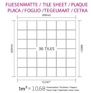 Mosaik Fliese massiv Metall Edelstahl hochglänzend in grau 1, 6mm stark ALLOY Cinquanta-S-S-M 0, 94 m2 - Vorschau 5