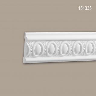 Wand- und Friesleiste PROFHOME 151335 Stuckleiste Zierleiste Wandleiste Neo-Klassizismus-Stil weiß 2 m