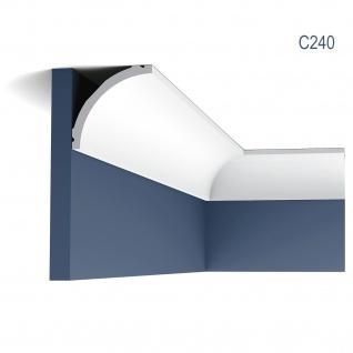 Stuckleiste Orac Decor C240 LUXXUS Eckleiste Zierleiste Decken Stuckgesims Wand Dekor Profil Dekorleiste 2 Meter