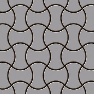 Mosaik Fliese massiv Metall Edelstahl matt in grau 1, 6mm stark ALLOY Infinit-S-S-MA Designed by Karim Rashid 0, 91 m2