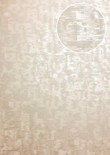 Ton-in-Ton Tapete ATLAS XPL-593-3 Vliestapete strukturiert mit abstraktem Muster schimmernd creme beige hell-elfenbein perl-weiß 5, 33 m2