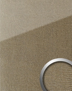 Wandpaneel Glas-Optik WallFace 20276 LEGUAN Silk AR+ Dekor Wandverkleidung abriebfest selbstklebend hellbraun 2, 6 m2