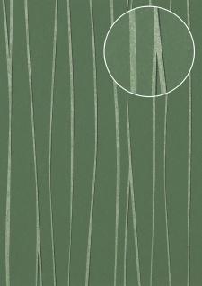 Streifen Tapete Atlas COL-570-1 Vliestapete glatt Design schimmernd grün kiefern-grün reseda-grün 5, 33 m2