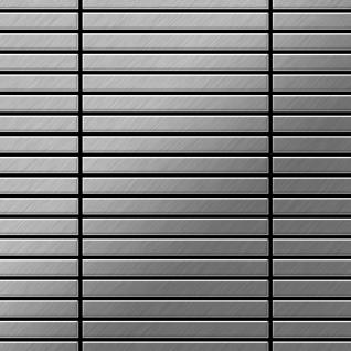 Mosaik Fliese massiv Metall Edelstahl marine gebürstet in grau 1, 6mm stark ALLOY Linear-S-S-MB 0, 94 m2