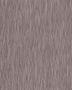 Streifen Tapete EDEM 122n-26 Vinyltapete geprägt Ton-in-Ton und Metallic Effekt braun beige 5, 33 m2