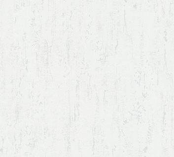 Stein Kacheln Tapete Profhome 364302-GU Vliestapete leicht strukturiert in Steinoptik matt weiß 5, 33 m2