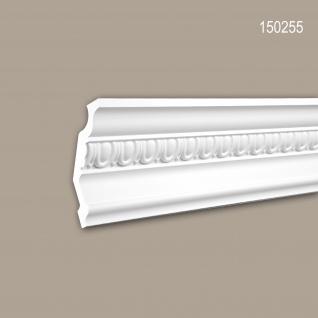 Eckleiste PROFHOME 150255 Zierleiste Stuckleiste Zeitloses Klassisches Design weiß 2 m