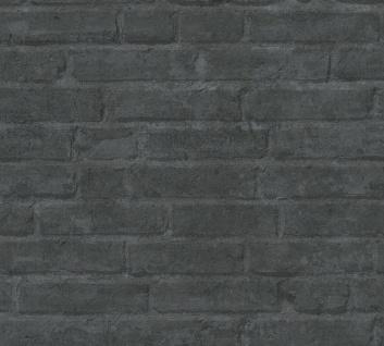 Stein Kacheln Tapete Profhome 377475-GU Vliestapete glatt in Steinoptik matt grau schwarz anthrazit 5, 33 m2 - Vorschau 1