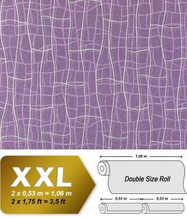 Grafik Tapete Vliestapete EDEM 972-39 XXL Objekttapete abstrakte 3D Netzstruktur Linien Flieder violett silber 10, 65 qm - Vorschau 1