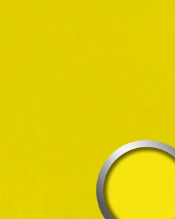 Dekorpaneel Leder Optik WallFace 20425 Antigrav Lemon Yellow Wandverkleidung glatt in Nappaleder Optik matt gelb 2, 6 m2