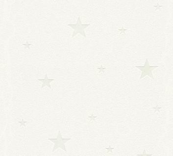 Kinder Tapete Profhome 324401-GU Vliestapete strukturiert mit Kinder Muster matt weiß 5, 33 m2