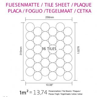 Mosaik Fliese massiv Metall Edelstahl gebürstet in grau 1, 6mm stark ALLOY Medallion-S-S-B 0, 73 m2 - Vorschau 4