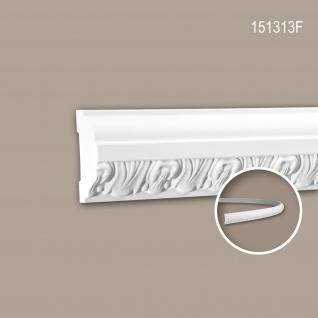 Wand- und Friesleiste PROFHOME 151313F Stuckleiste Flexible Leiste Zierleiste Zeitloses Klassisches Design weiß 2 m