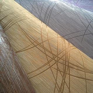 Grafik Tapete EDEM 1021-11 Designer Vinyl Tapete grafisches Linien-Muster Struktur metallic look gelb gold - Vorschau 3