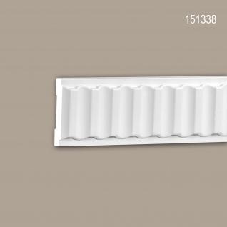 Wand- und Friesleiste PROFHOME 151338 Stuckleiste Zierleiste Wandleiste Neo-Klassizismus-Stil weiß 2 m