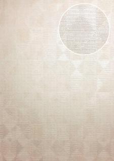 Ton-in-Ton Tapete ATLAS XPL-592-3 Vliestapete strukturiert mit geometrischen Formen schimmernd creme beige hell-elfenbein perl-weiß 5, 33 m2