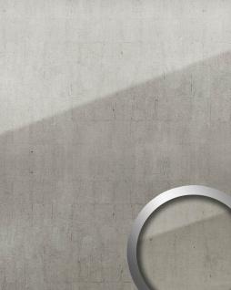 Wandverkleidung abriebfest selbstklebend WallFace 18001 Wandpaneel Glas-Optik Vintage Dekor platin grau 2, 60 qm