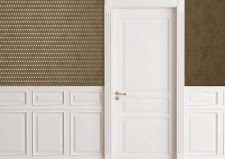 Grafik Tapete Atlas ICO-1705-2 Vliestapete glatt mit abstraktem Muster schimmernd beige gold 5, 33 m2 - Vorschau 3