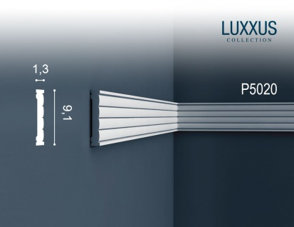 Wandleiste Orac Decor P5020 LUXXUS Zierleiste Fries Leiste Stuck Dekor Profil Zierleiste Wand | 2 Meter