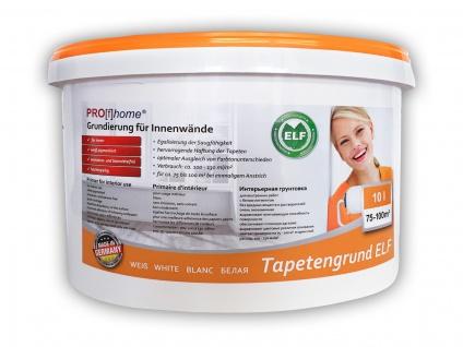Tapetengrund ELF PROFHOME Grundierung für Innenwände Tapeten Tapeziergrund weiß 10 L für max. 100 qm