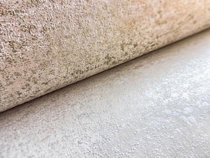 Ton-in-Ton Tapete ATLAS HER-5131-3 Vliestapete strukturiert im Shabby Chic Stil glänzend weiß perl-weiß 7, 035 m2 - Vorschau 4