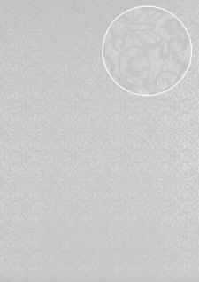 Barock Tapete Atlas PRI-498-5 Vliestapete glatt mit Ornamenten glänzend oliv oliv-grau kiesel-grau perl-beige 5, 33 m2
