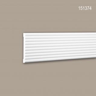 Wand- und Friesleiste PROFHOME 151374 Stuckleiste Zierleiste Friesleiste Modernes Design weiß 2 m