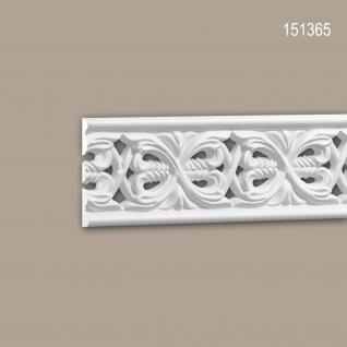 Wand- und Friesleiste PROFHOME 151365 Stuckleiste Zierleiste Friesleiste Rokoko Barock Stil weiß 2 m