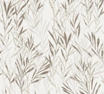 Blumen Tapete Profhome 367124-GU Vliestapete leicht strukturiert mit Natur-Mustern matt braun beige creme 5, 33 m2