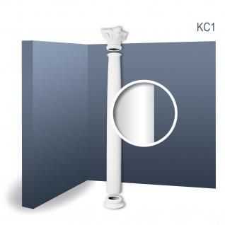 Vollsäule Komplett Set Orac Decor Luxxus KC1 dekorative Stucksäule weiß antike Rundform klassisch stoßfest | 2, 42 Meter