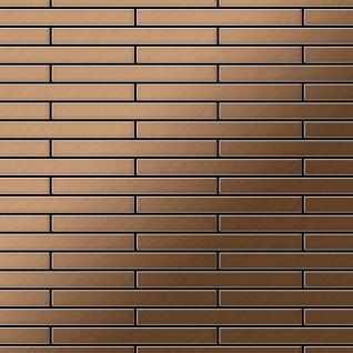 Mosaik Fliese massiv Metall Titan gebürstet in kupfer 1, 6mm stark ALLOY Deedee-Ti-AB 0, 78 m2