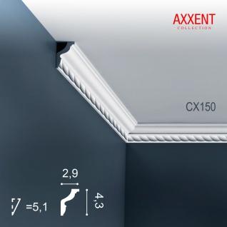 Stuckleiste Zierleiste Profilleiste Orac Decor CX150 AXXENT Kantenleiste Stuck Eckleiste Wand Decken Leiste 2 Meter