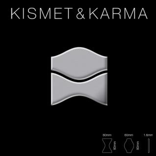 Mosaik Fliese massiv Metall Edelstahl hochglänzend in grau 1, 6mm stark ALLOY Kismet & Karma-S-S-M Designed by Karim Rashid 0, 86 m2 - Vorschau 2