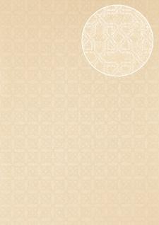 Grafik Tapete Atlas PRI-559-9 Vliestapete strukturiert mit Ornamenten schimmernd elfenbein perl-weiß vanille 5, 33 m2