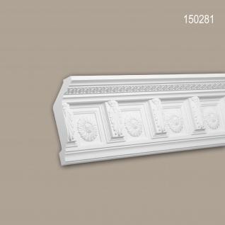 Eckleiste PROFHOME 150281 Zierleiste Stuckleiste Zeitloses Klassisches Design weiß 2 m