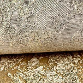Uni Tapete EDEM 9011-37 Vliestapete geprägt in Spachteloptik glänzend creme weiß silber 10, 65 m2 - Vorschau 3