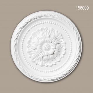 Rosette PROFHOME 156009 Deckenelement Zierelement Neo-Renaissance-Stil weiß Ø 29, 3 cm - Vorschau 1