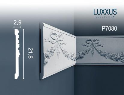 Wandleiste Stuck Orac Decor P7080 LUXXUS Stuckgesims Friesleiste Wand Dekor Profil Ornament detailscharf | 2 Meter