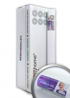 Renoviervlies Profhome 120 g 6 Rollen 150 m2 HomeVlies Malervlies Anstrichvlies Objektvlies glatt überstreichbar weiß