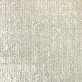 Luxus Muschel Wandverkleidung WallFace CSA02-4 CAPIZ Vliestapete handgearbeitet mit echten Capiz-Muscheln Perlmutt Optik creme-weiß 9, 80 m2 Rolle