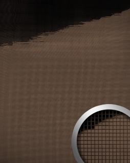 Wandpaneel WallFace 14136 M-Style Design Platte EyeCatch Metall Mosaik Dekor selbstklebend spiegel glanz braun | 0, 96 qm