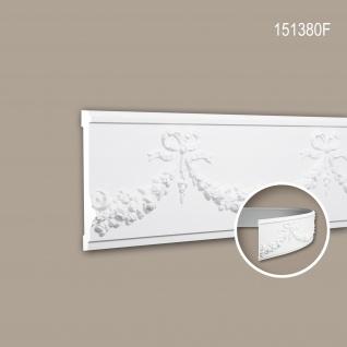 Wand- und Friesleiste PROFHOME 151380F Stuckleiste Flexible Leiste Zierleiste Neo-Empire-Stil weiß 2 m