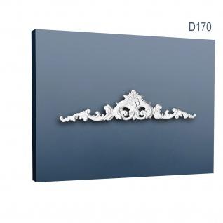 Pediment Türaufsatz Stuck Orac Decor D170 LUXXUS Zierelement Stuckprofil Stuckgesims stilvolles Tür Element weiß 105 cm